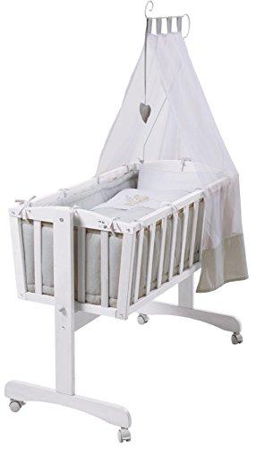 Babybett aus Holz ansehen | Baby Beistellbett aus Holz