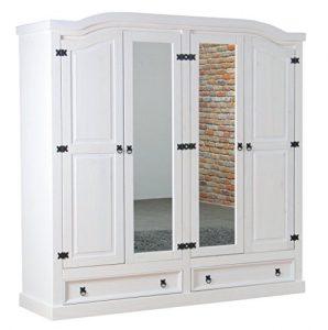 Holz Kleiderschrank, Kleiderschrank aus Holz, Massivholz Kleiderschrank, Holz Kleiderschrank mit Spiegel