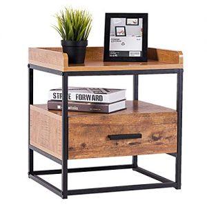 Beistelltisch aus Massivholz, Abstelltisch aus Holz, Holz Nachttisch